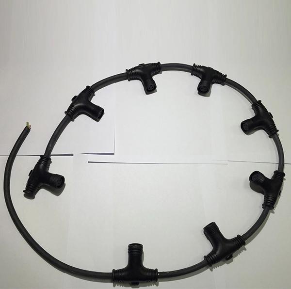T型三通防水插头连接线